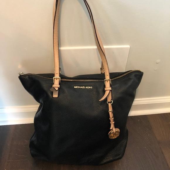 60d92ea235402f Michael Kors Leather Tote Bag 13.5